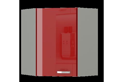 Szafka narożna górna AGA 58/58 GN-72 1F czerwony połysk