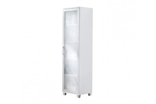 Regał szkło Maximus 50 cm biały