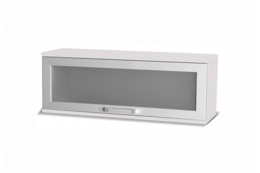 Szafka szkło Maximus 100 cm biały