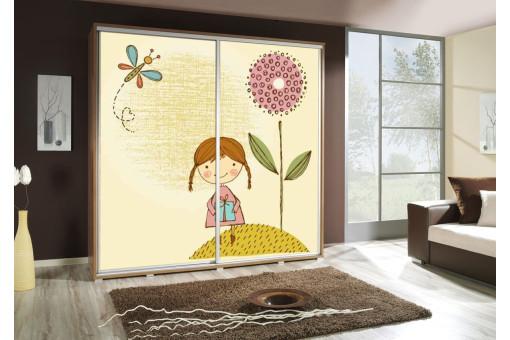 Szafa Penelopa Dziewczynka 205 cm - 4 kolory