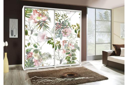 Szafa Penelopa Kwiaty 205 cm - 4 kolory