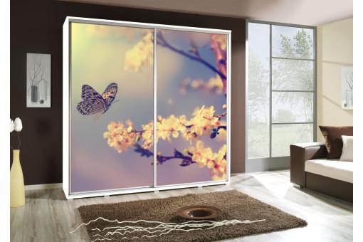 Szafa Penelopa Motyl 2a 205 cm - 4 kolory