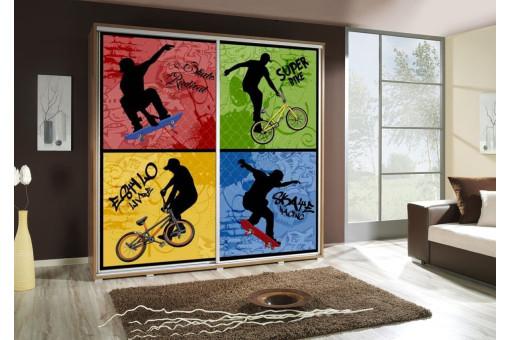 Szafa Penelopa Skate 1 205 cm - 4 kolory