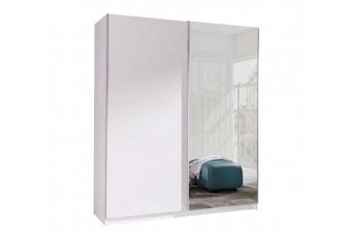 Szafa Batumi2 150 cm biały/lustro