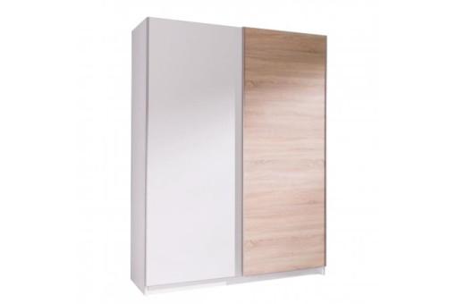 Szafa Batumi3 150 cm biały/dąb sonoma/biały