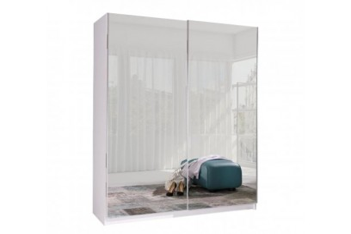 Szafa Batumi6 150 cm biały/lustro