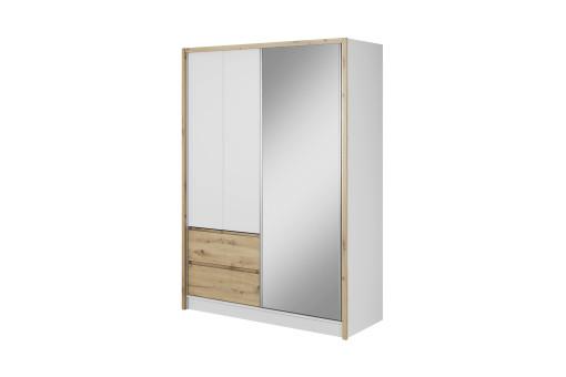 Szafa Sara 150 cm biały mat/dąb artisan