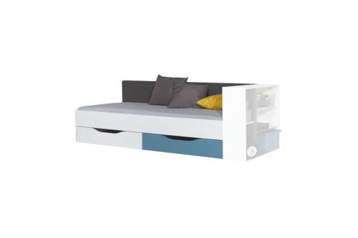 Łóżko Tablo 90x200 cm TA12A Grafit / Bialy Lux / Atlantic