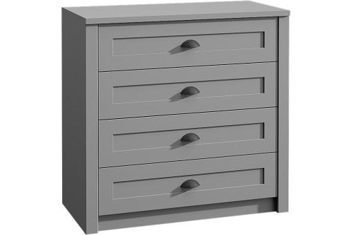 Komoda K4 Prowansja 90 cm grey