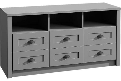 Komoda K6S Prowansja 130 cm grey