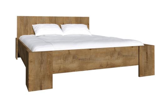 Łóżko L1 Montana smooth grey/dąb lefkas ciemny