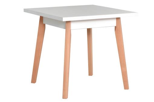 Stół Oslo 1 biały/buk naturalny