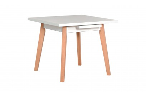 Stół Oslo 1L biały/buk naturalny