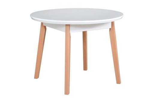Stół Oslo 4 biały/naturalny
