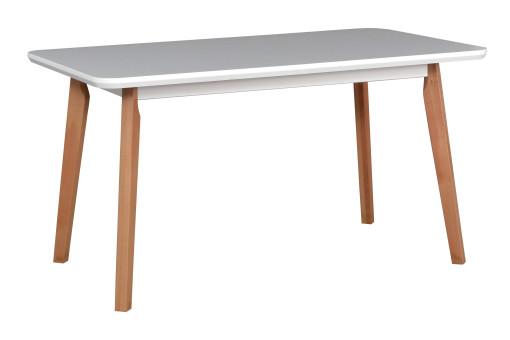 Stół Oslo 7 biały/buk