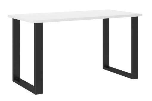 Stół industrialny 138x67 cm biały