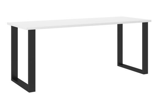 Stół industrialny 185x67 cm biały