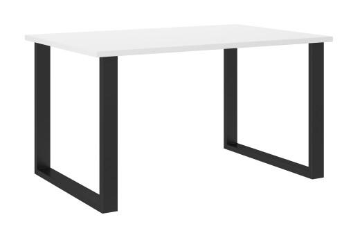 Stół industrialny 138x90 cm biały