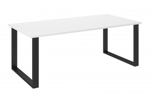 Stół industrialny 185x90 cm biały