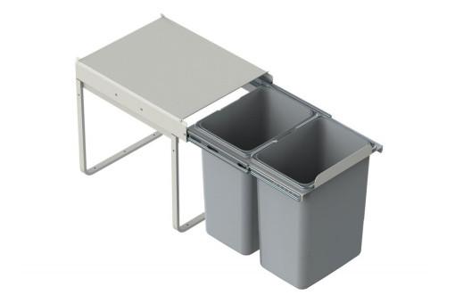 Kosz do segregacji śmieci 2x20 litrów